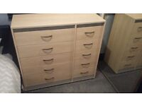 Matching chest of drawers and wardrobe