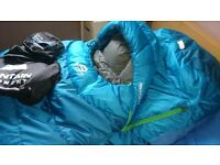 MOUNTAIN EQUIPMENT TITAN 425 WR DOWN SLEEPING BAG ALMOST NEW HARDWEAR RAB ALPKIT GRIVEL MSR