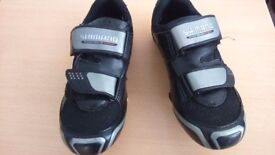 Ladies road cycling shoes. Fit lady with a shoe size 5 . Black in good condition .