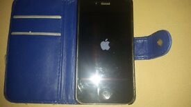 iPhone 4 unlocked with case and charger