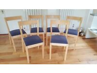 Dining Chairs - Set of six made by IKEA, plus 2 sets of seat covers