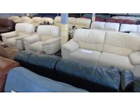 PRE OWNED 3 Seater Sofa + 2 x Armchairs in Cream Fabric
