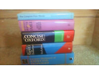 FIVE large reference books in good condition can sell separately but ALL for