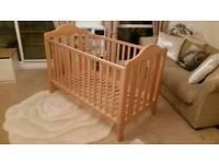 Mamas and Papas Lucia Oak Cot Bed