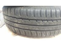 "KA 13"" tyres and steel wheels (part worn) (nearly new)"