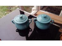 2 x Le Creuset mini Pots
