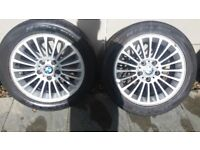 2 bmw wheels with tyres