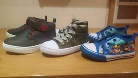 3x pairs Boys shoes, mint condition