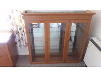 glass cabinet+lighting+mirrors+glass shelves