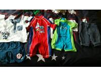 3 - 6 months summer bundle baby boys clothes swimming costume Mickey mouse