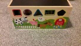 Shape sorted toy box