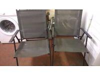 2 Indoor or Outdoor Water Resistant Garden Chairs for sale