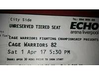 Cage warriors 82 tickets