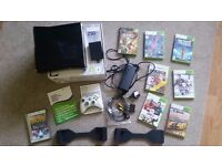 Xbox 360, 250gb 8 games and controller