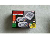 Snes mini, brand new and sealed £75.