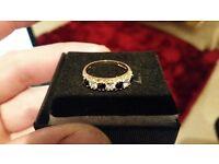 9crt gold diamond and sapphire eternity ring