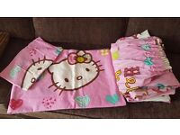 Hello kitty bedding and curtains