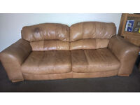 Leather Suit 1 x 2 Seater 1 x 3 Seater 1x Chair Plus foot Stool