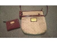 womens floozie cross over bag with matching purse