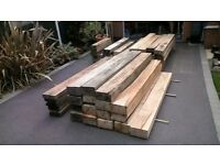 OAK SLEEPERS 2.4M 1.8M 8X4 AND 9X5 SECOND GRADE UNTREATED