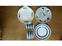 HOMEMAKER, STAFFORDSHIRE & OTHER PLATES TABLEWARE