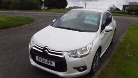 "CITROEN DS4 1.6 HDI DSTYLE(61)plate,18""Alloys,Air Con,Cruise,Park Sensors,Pearl White,Full History"