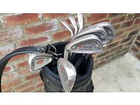 10 Maple Leaf Left Handed Irons and Bag
