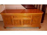 Sideboard - hardwood, high gloss with inlays