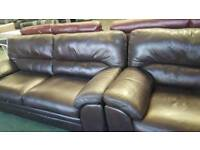 Real leather brown 3+2 srater sofa