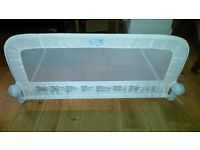 folding baby bed guard - white