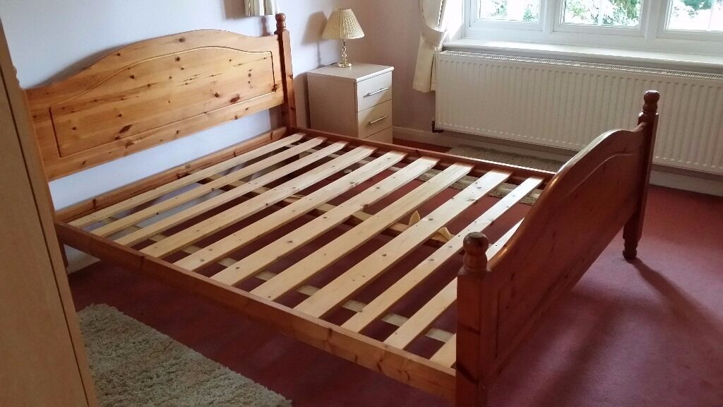 king size wooden bed frame strong and sturdy - Sturdy Bed Frames