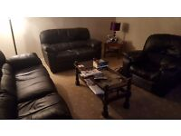 Leather 3piece suite for sale