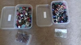 2 Boxes of Jewellery making beads, findings etc (# 5 & 6)