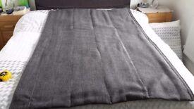 Roman blind - John Lewis fabric, Remus, Steel