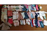 3-6 months baby clothes bundle