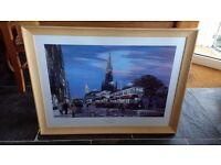Large Framed Edinburgh Trams Print