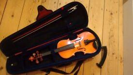 Stentor Student 1 Violin 1/2 Size with Dominant Strings, case & shoulder rest
