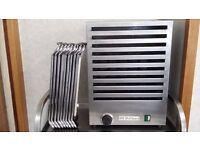 10 Plate aluminium & stainless steel food dish plate warmer