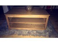 Oak TV unit, coffee table and single unit