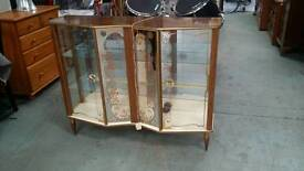 60s glass front display case