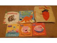 6 books – 5 hardback & 1 soft