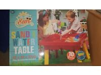 Brand new unopened sand and water table