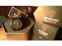 MEN'S DETOMASO MARKS A MAN-STEPPENWOLF WATCH in all original packaging 1 year left on guartee.