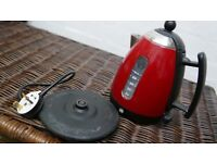 Dualit Jug Kettle JKT3 Metallic Red cordless with base *Not working, for spares