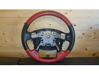 RANGE ROVER SPORT 2010 LEATHER STEERING WHEEL IN RED SECOND HAND