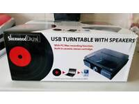 Usb turntable with speaker brand new in the box