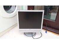 "Phillips 17"" pc desktop monitor"