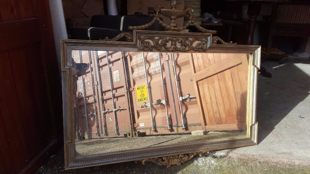 Beautiful large Baroque/Rococo style gilt framed mirror.