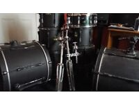 9 piece double bass drum kit