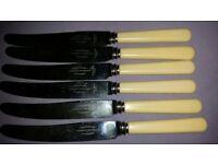 Retro cutlery. Bone handles. Set of 6